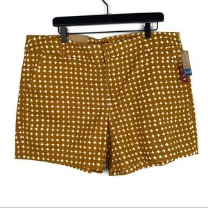 Merona Fit 1 Mustard Foxtail Print Shorts